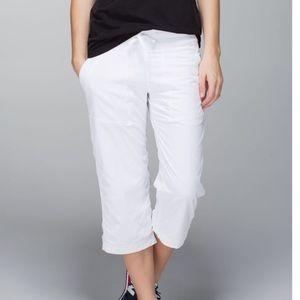 Lululemon White studio dance pants